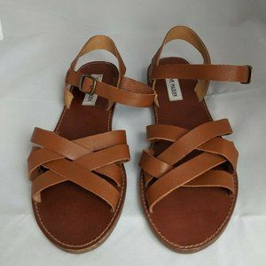 Steve Madden Flat Leather Strappy Flat Sandals 9.5